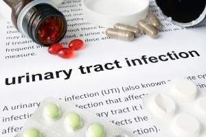 Urology Specialists of the Carolinas urinary tract infection in book with pills