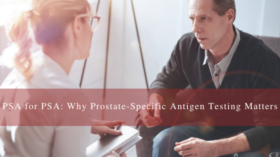 prostate-specific antigen testing for men